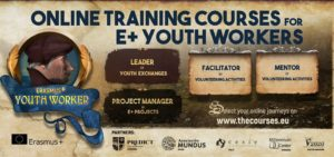 Online training course, facilitator in volunteering activities