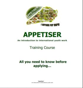 Training offers, APPETISER for international youth work