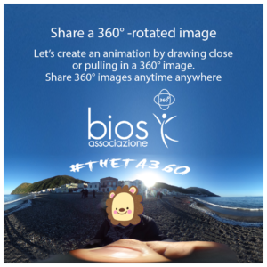 Share a 360° - rotated image!