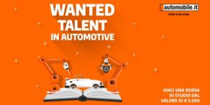 "Borsa di studio ""Wanted Talent in Automotive"""