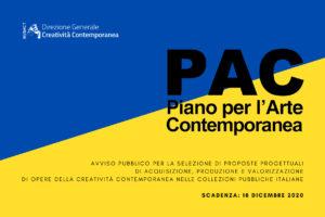 MiBACT - PIANO PER L'ARTE CONTEMPORANEA 2020